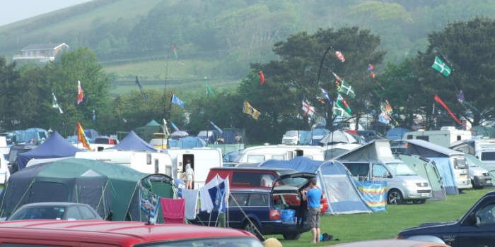 Camping flags - Lobb Fields, Braunton, North Devon - 01271 812090