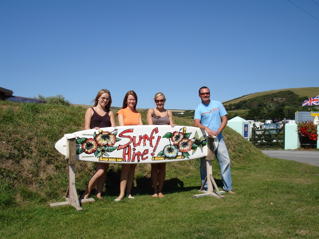Surf hire - Lobb Fields, Braunton, North Devon - 01271 812090