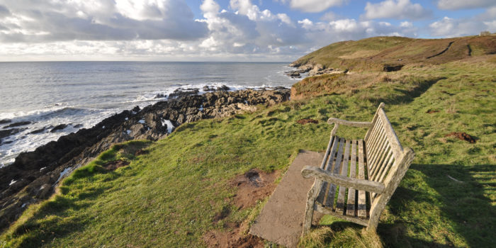 Southwest Coast Path view to Baggy Point